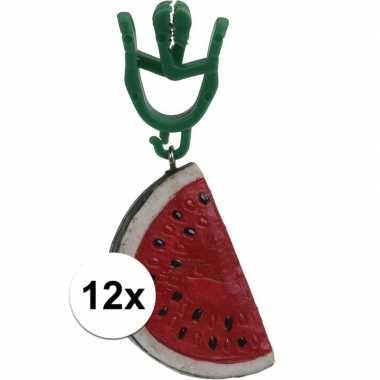 12x watermeloen gewichtjes voor kleedjes