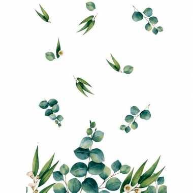 1x design thema feest tafelkleden/tafellakens 138 x 220 cm eucalyptus