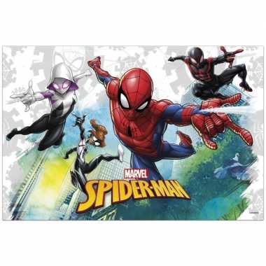 1x marvel spiderman feestartikelen tafelkleedjes 120 x 180 cm kunstst