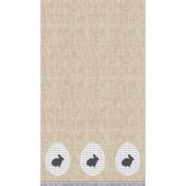 1x pasen thema feest tafelkleden/tafellakens 138 x 220 cm paashaas/pa
