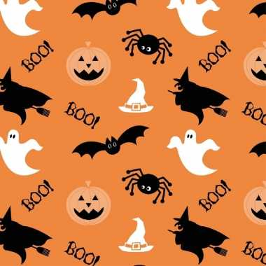 20x halloween/horror oranje servetten met figuren print 33 x 33 cm