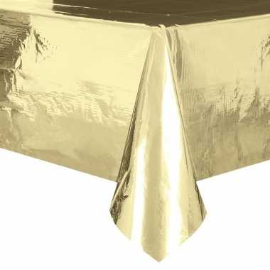 2x gouden tafelkleden/tafellakens 137 x 274 cm folie