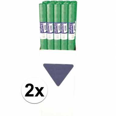 2x groen tafelkleed papier 8 meter