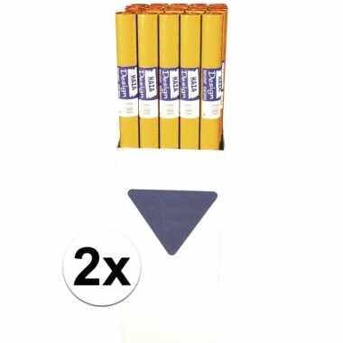 2x papieren tafelkleed oranje 800x118cm