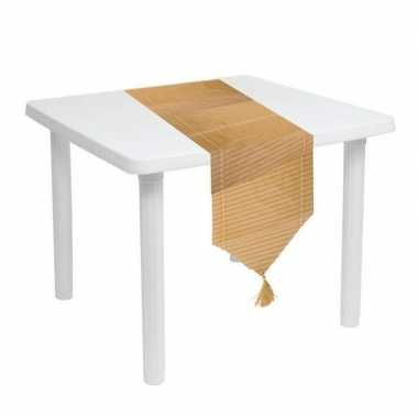 2x stuks bamboe tafellopers 150 x 28 cm