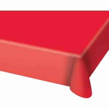 2x stuks tafelkleed van plastic rood 130 x 180 cm