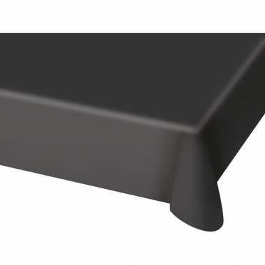 2x stuks tafelkleed van plastic zwart 130 x 180 cm