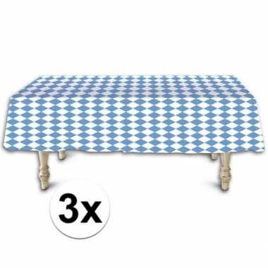 3x beieren tafelkleden/tafelzeilen 137 x 275 cm