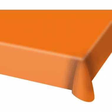 4x stuks tafelkleed van plastic oranje 130 x 180 cm