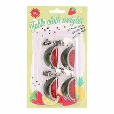 4x watermeloen gewichtjes voor kleed
