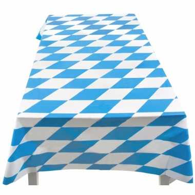 5x blauw met wit tafelkleed 130 x 180 cm