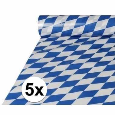 5x plastic beieren tafelkleden 20 meter