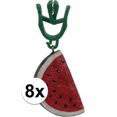 8x watermeloen gewichtjes voor kleed