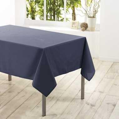 Antraciet grijs tafellaken voor binnen 140 x 250 cm polyester stof/te