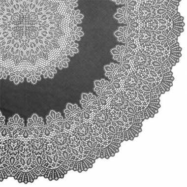 Antraciet grijs tuin tafellaken voor buiten 152 cm rond van kunststof
