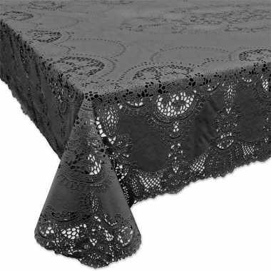 Antraciet grijs tuin tafellaken voor buiten 152 x 228 cm rechthoekig