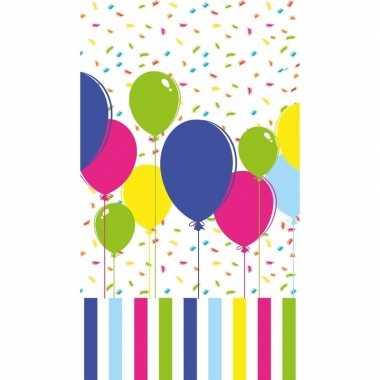 Ballonnen print tafelkleed/tafellaken gekleurd 120 x 180 cm van papie
