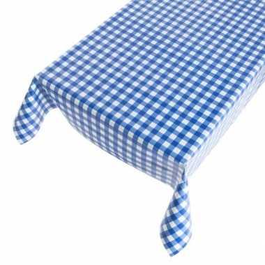 Blauwe ruit tafellaken 140 x 170 cm