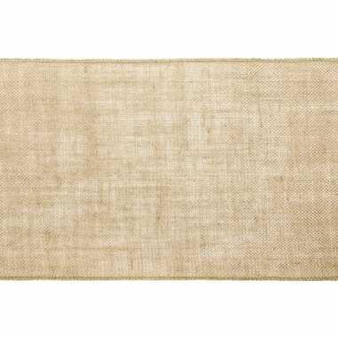 Bruiloft/huwelijk jute tafellopers/placemats 28 x 500 cm
