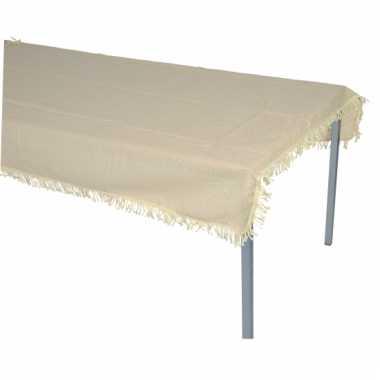 Buiten tafelkleed beige 220 x 140 cm