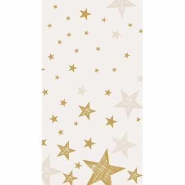 Creme wit kerst tafelkleed 220 cm