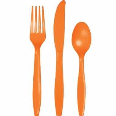 Feest bestek in de kleur oranje