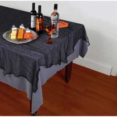 Feestartikelen tafelkleed spinnenweb 152 x 213 cm