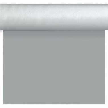 Feestartikelen zilveren bruiloft tafelkleden/tafellopers/placemats 40