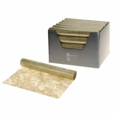 Gouden tafelloper 30 x 500 cm