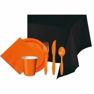 Heksen versierings pakket zwart/oranje