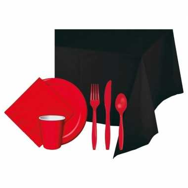 Heksen versierings pakket zwart/rood