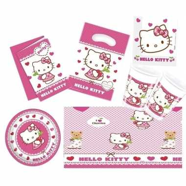 Hello kitty thema huis versieren 7-12 personen
