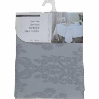 Kerst thema tafelkleed grijs 180 x 130 cm