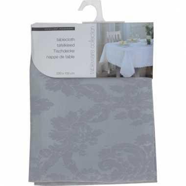 Kerst thema tafelkleed grijs 220 x 150 cm