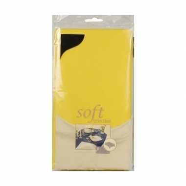 Lente/pasen thema geel tafelkleed van stof 120 x 180 cm