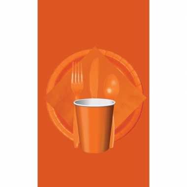 Oranje thema tafel versiering pakket