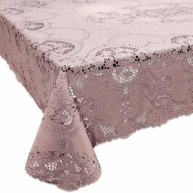 Oud roze tuin tafellaken voor buiten 137 x 180 cm rechthoekig van kun