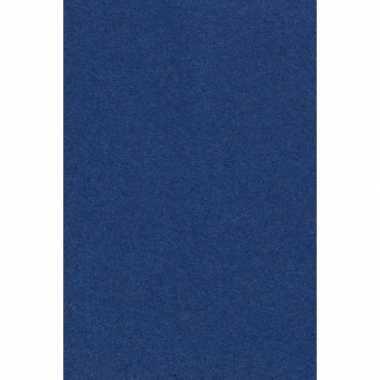Papieren tafelkleden/tafellakens decoratie donker blauw 137 x 274 cm