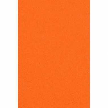 Papieren tafelkleden/tafellakens decoratie oranje 137 x 274 cm