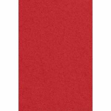 Papieren tafelkleden/tafellakens decoratie rood 137 x 274 cm