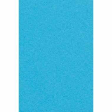 Papieren tafelkleden/tafellakens decoratie smurfenblauw 137 x 274 cm