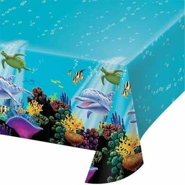 Plastic oceaan tafelkleed