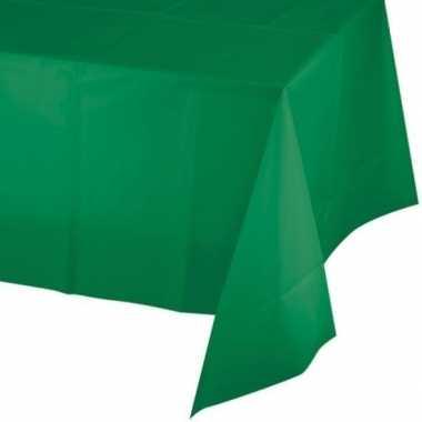 Plastic tafelkleed groen 137 x 259 cm