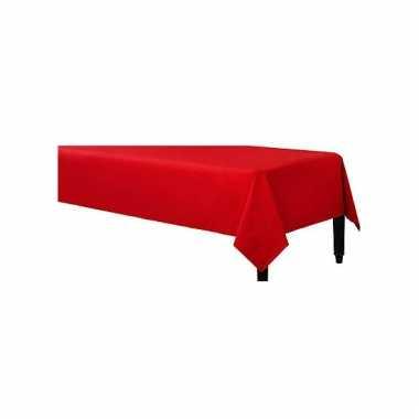 Plastic tafelkleed rood 140 x 240 cm