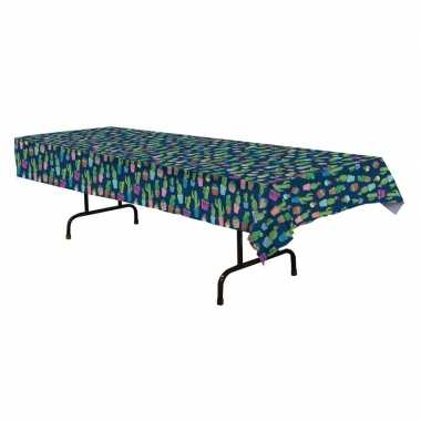 Rechthoekig tafellaken met cactus print 137 x 274 cm