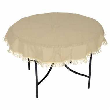 Rond buiten tafelkleed beige 160 cm