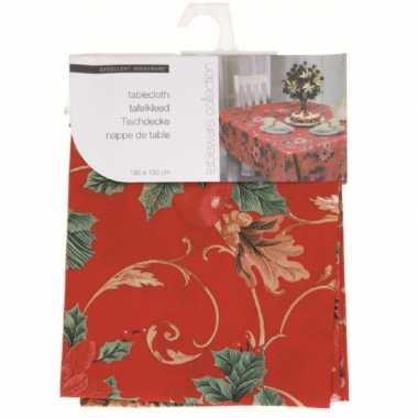 Rood kerst tafelkleed 130 cm