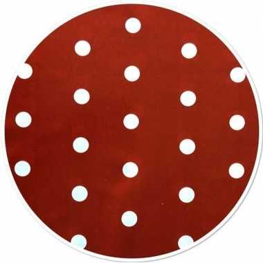 Rood tuin tafellaken voor buiten polkadot stippen print 160 cm pvc/ku