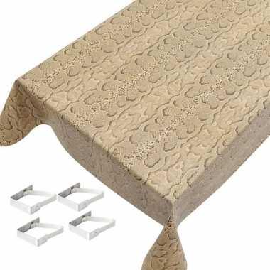 Slangen print tuin tafellaken voor buiten 140 x 245 cm pvc/kunststof