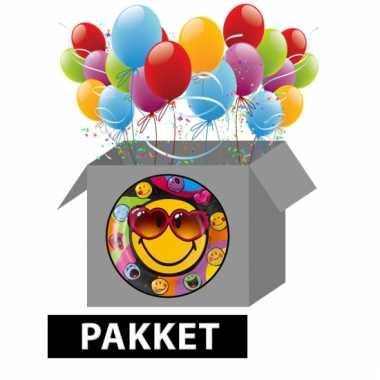 Smiley themafeest pakket